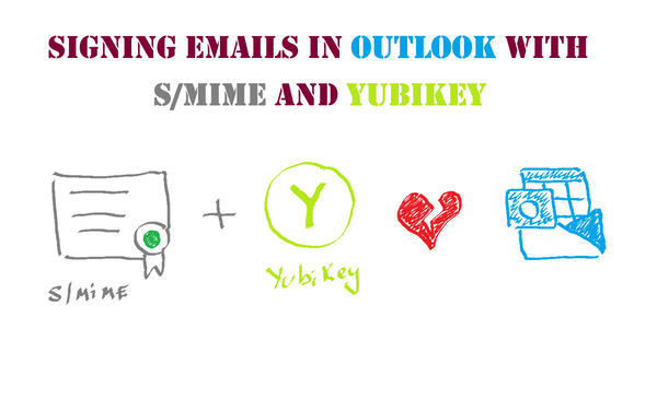 Signing your emails in Outlook with an S/MIME certificate and YubiKey